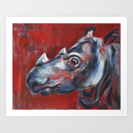 Sumatran Rhino Art Print