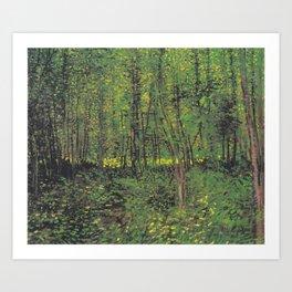 Vincent van Gogh - Trees and Undergrowth Art Print