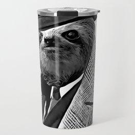 Gentleman Sloth with Coat - Cartoonized Travel Mug
