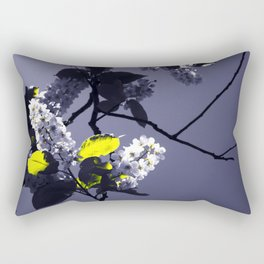 Bird cherry in the sunlight Rectangular Pillow