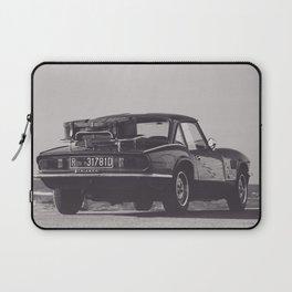 Supercar details, british triumph spitfire, black & white, high quality fine art print, classic car Laptop Sleeve