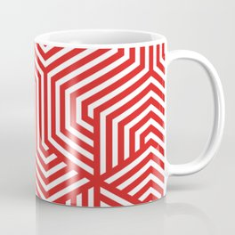 Maximum red - red - Minimal Vector Seamless Pattern Coffee Mug
