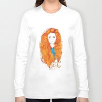 be brave Long Sleeve T-shirts featuring Brave by FeliciaR