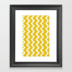 Crazy for Chevron - Mustard Framed Art Print
