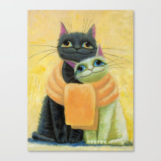 cat play Canvas Print