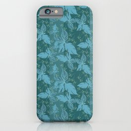 Foliage and dandelion flower bud iPhone Case
