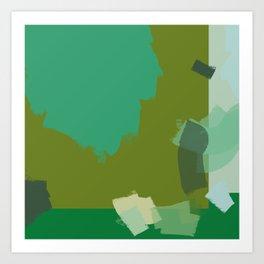 Ode to green 3 Art Print