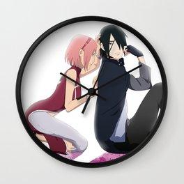 Sasusaku back home Wall Clock