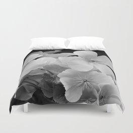 Black & White Bouquet Duvet Cover
