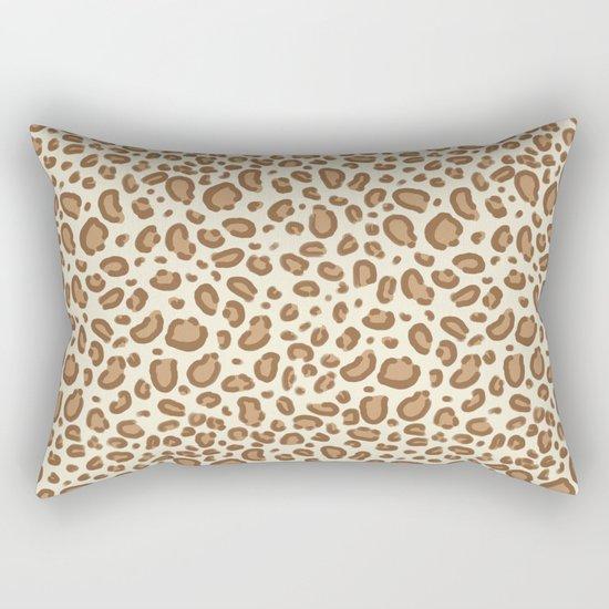 Leopard spots animal pattern print minimal basic home decor safari animals Rectangular Pillow