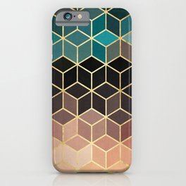 Colorful and golden pattern II iPhone Case