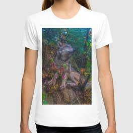 Wolf Pup in the Forest T-shirt