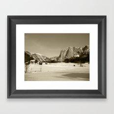 Altausee Landscape Sepia Framed Art Print
