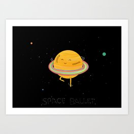 Space ballet Art Print