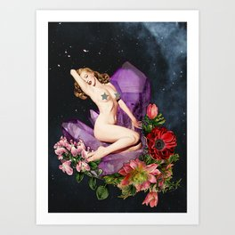 Stars & Flowers Art Print