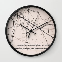 monsters + ghosts Wall Clock