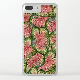Chestnut Wasabi Foliage Clear iPhone Case