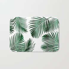 Tropical Palm Leaf Bath Mat
