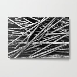 Rebar And Spring - Industrial Abstract Metal Print