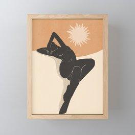 Minimal Abstract Art Nude Woman 4 Framed Mini Art Print