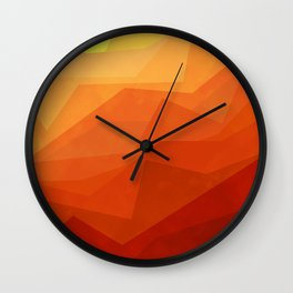 Stratum 3 Orange Wall Clock