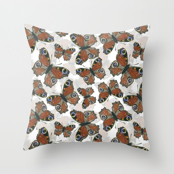 Peacock Butterfly Pattern Throw Pillow By Katerinamitkova Society6
