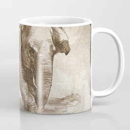 Elephant Sketch (Monochrome) Coffee Mug