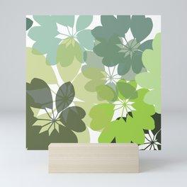 G. Flowers Shape Mini Art Print