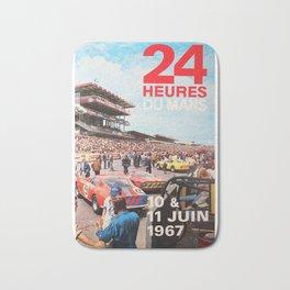 Le Mans 1967, 24hs Le Mans, 1967, original vintage poster Bath Mat