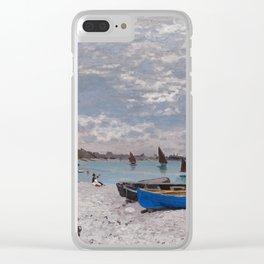 "Claude Monet ""The Beach at Sainte-Adresse"" Clear iPhone Case"