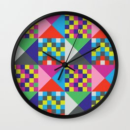 geometric//pattern//amazin-ness Wall Clock