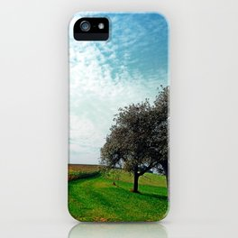 Cornfields, trees and lots of clouds | landscape photography iPhone Case