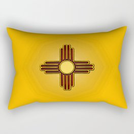 Fancy Flag:  New Mexico Rectangular Pillow