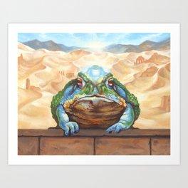 Dust Toad Art Print