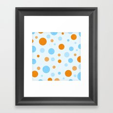 Something Fishy Bubbles Framed Art Print