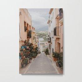 Spanish Streets Metal Print