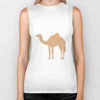 camel Biker Tanks featuring Camel by tamara elphick