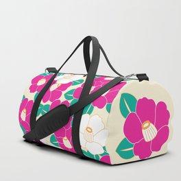 Shades of Tsubaki - Pink & White Duffle Bag