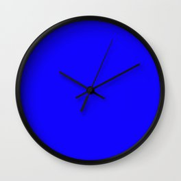 Curves in Yellow & Royal Blue ~ Royal Blue Wall Clock