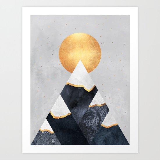 Winter Mountains Art Print