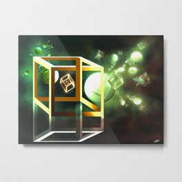 Subatomic Metal Print
