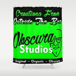 Awesome Obscura Pomotional Stuff Shower Curtain