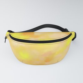 Yellow Liquid Gold Marble Abstract Fanny Pack