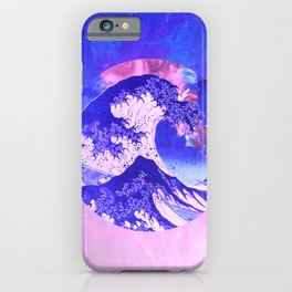 Great Wave Off Kanagawa Mount Fuji Eruption with Gradient iPhone Case