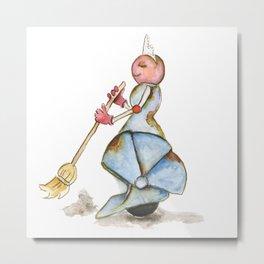 Sweeper Robot  Metal Print