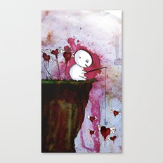 Fishing for hearts Canvas Print