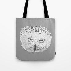 Snowy Owl Grey Tote Bag