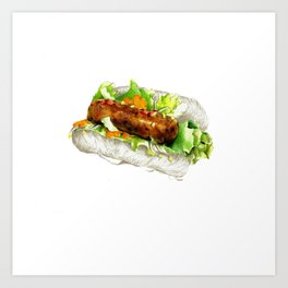 Bún nem hotdog Art Print