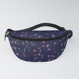 Midnight Pinky Flowers Fanny Pack