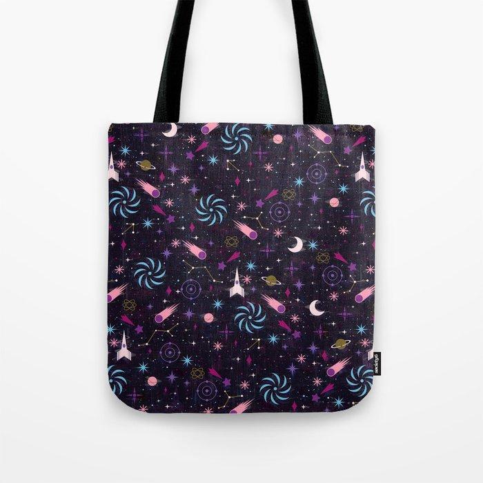 Galaxy Glitch Tote Bag